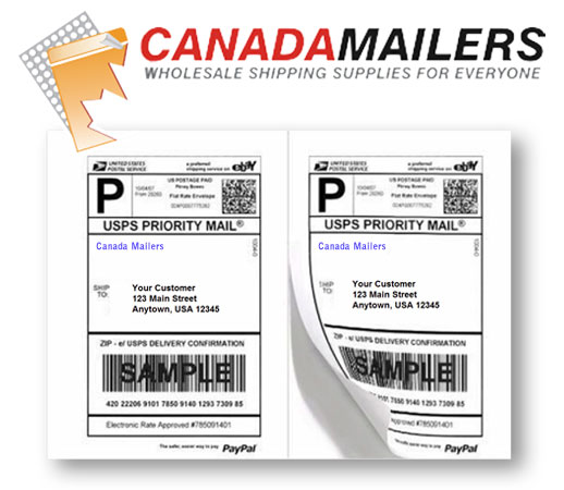 Paypal Compatible 8.5x5.5 2UP Shipping Labels: 200 labels - Click Image to Close