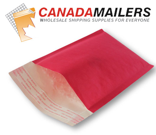 Red Kraft Bubble Mailer - 7x10 - Box of 500